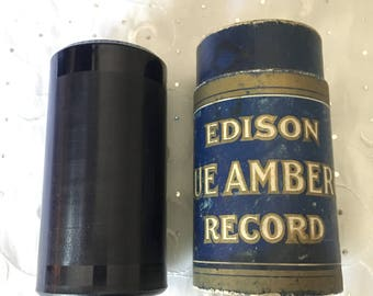 "Vintage Edison Blue Amberol 4 minute Cylinder Record 4471 Tuck Me To Sleep ( XYLO ) Lou Chiha ""Friscoe"""