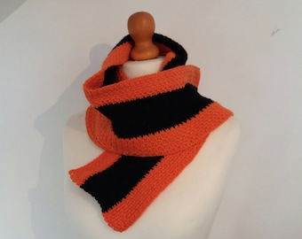 Crochet Pattern - School Stripes Scarf - Instant Download PDF