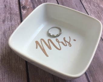 Rose Gold Glittered   Ring dishes for the Mrs.