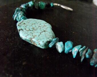Womens turquoise bracelet, large turquoise bracelet,native bracelet, tribal bracelet, womens tribal jewelry, turquoise jewelry, native stone