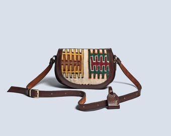 Sonia Vintage Kilim Leather Cross Body Bag