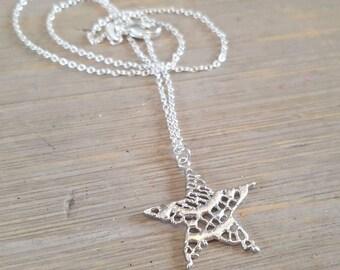 Big Star silver necklace