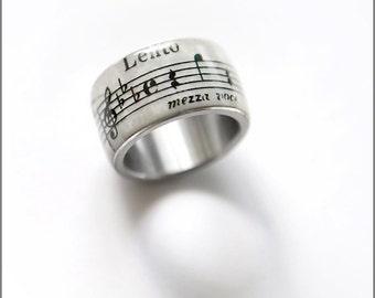Blatt, Musik, Musik-Noten-Ring, Geschenk der Musik, Musik Schmuck