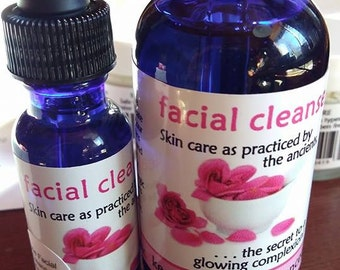 Facial Cleanse--rose petal 1/2 oz sample