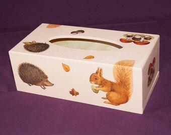 Hedgehogs, squirrels and bird tissue box