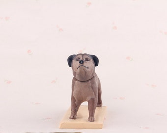 Personalized figurine,dog figurine,pets figurine,unique figurine for friends,dog bobblehead figurine