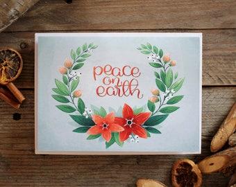 Peace On Earth - Illustrated Greetings Card