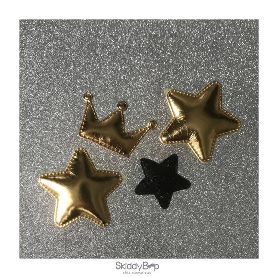 Faux Leather // Sparkle  // Crown // Stars // Hair Clip