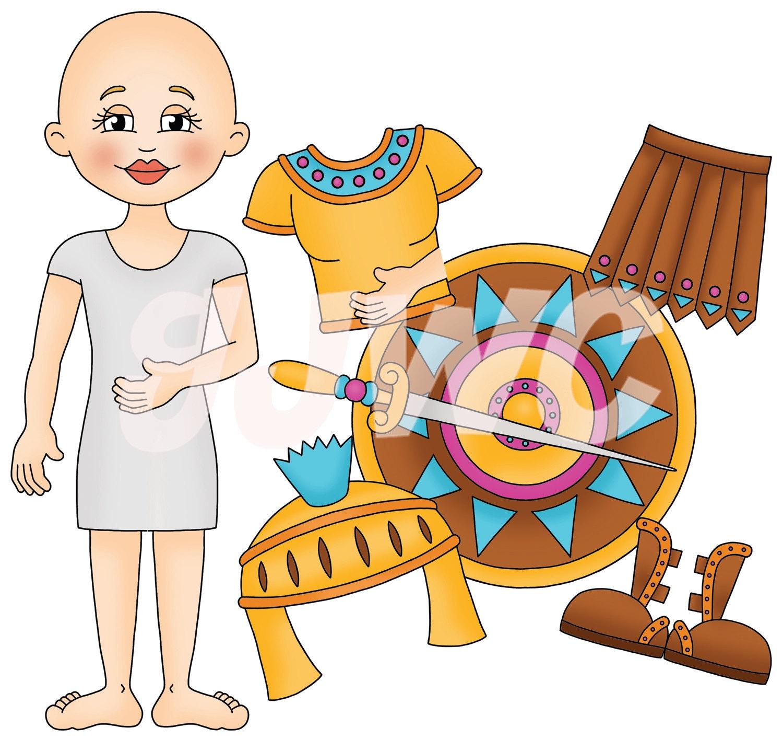 ARMOR of GOD Girl Children's File Folder Game