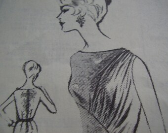 Vintage 1960's Austine La Mar Fashion Pattern R-210 Dress Sewing Pattern, Size 12, Bust 32
