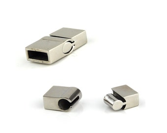 Stainless Steel Interlocking Magnetic Clasps for Jewellery DIY Leather or Fabric Internal Size 10mm x 4mm