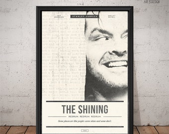 THE SHINING Poster - Unique Retro Movie Poster - Movie Print, Film Poster, Wall Art, Stanley Kubrick Print
