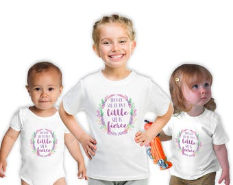 Though She Be But Little.... Tshirt, Baby Shower Gift,  Birthday Gift, New Baby shirt, Baby Sister Gift, Big Sister Shirt, New Big Sister