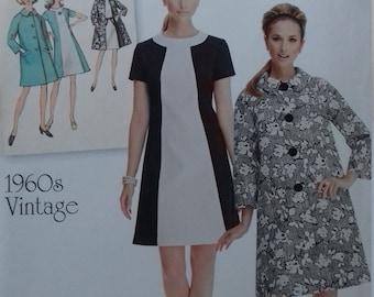 UNCUT  Retro Simplicity 1197  Misses Dress & Coat