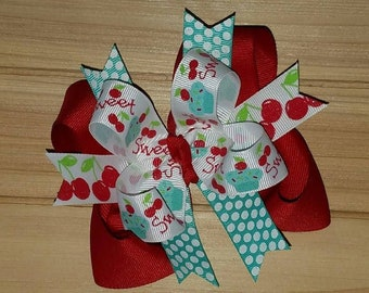 Sweet, Cherries, Boutique Hair Bow