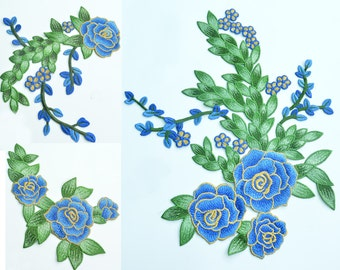 1 piece Embroidery Flowers Appliques, sew-on Patches For Wedding Supplies,Appliques Flower,For dress DIY (83-70)