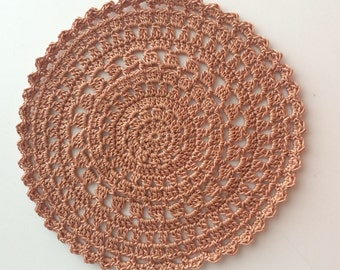 "Copper  6"" doily"
