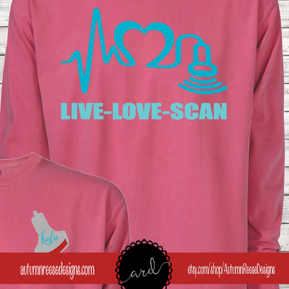 Monogrammed Sonographer Customized Shirt Personalized Comfort Colors Shirts NpNc1lmfW