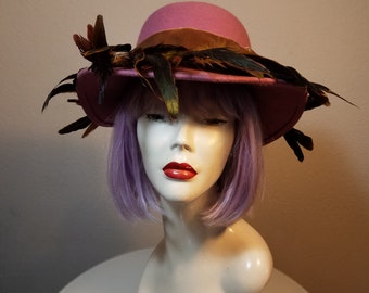 FREE  SHIPPING   Mr.Charles Wool Feather Hat