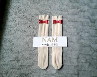 Ivory Knee High Socks| Christmas Socks| Over The Knee Socks| Boot Socks| Cream Knee High Socks| Baby Knee High Socks| Toddler Socks| Socks
