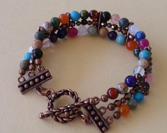 Anything Goes 3 Strand Copper Bracelet