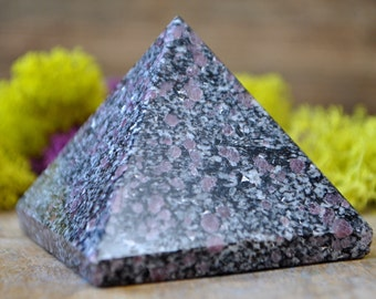Ruby in Black Tourmaline Crystal Pyramid - 1039.05