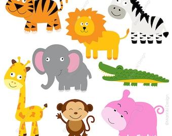 animal faces clipart cute farm animals clip art animal rh etsy com free clipart jungle animals jungle animals clipart
