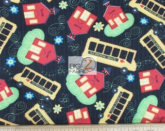 """School Days By Jo Moulton For Wilmington Prints 100% Cotton Fabric 45"""" Wide By The Yard (FH-1814)"""