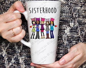 Womens March, 17 oz Latte Mug, March to polls , womens rights, the future is female, feminist mug, gift for her, Mothers day, womens gift