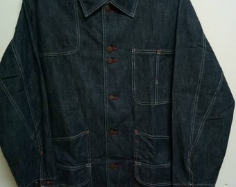 Denim Workwear Jacket West Cal. 45 bronze buttons by Perfect World