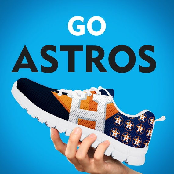 Custom Gift Houston Kids Womens Baseball Sizes Running Astros Gift Fan Shoes Collector Gift Trainers Sneakers Mens qa4qfPv
