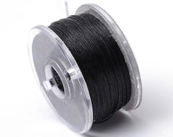 5 m polyester thread coated black special 0.1 mm seed beads