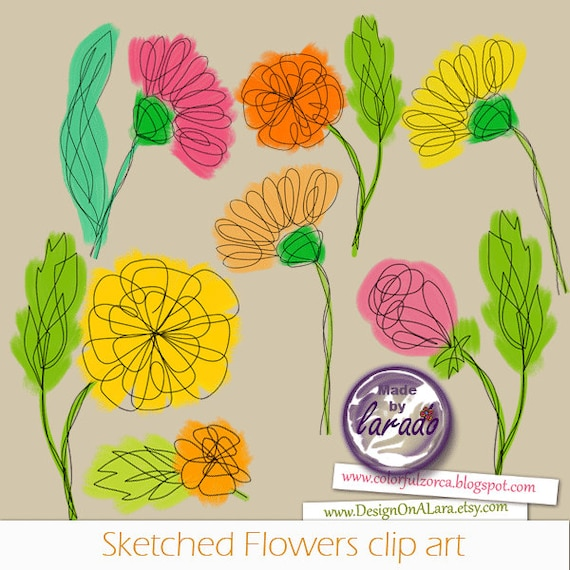 Sketched flowers cliparts spring flowers cliparts floral clipart sketched flowers cliparts spring flowers cliparts floral clipart doodle flowers clipart hand drawn flower and leaf doodles botanical from designonalara mightylinksfo