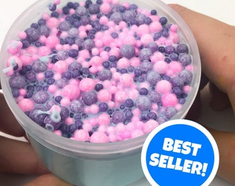 SCENTED Cotton Candy Explosion Floam Slime! Stretchy Thick Muggle Slimes Floam
