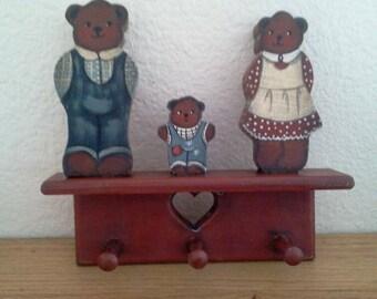 The three bears peg shelf