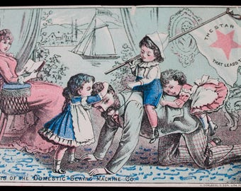 Victorian Trading Card, Domestic Sewing Machine Co