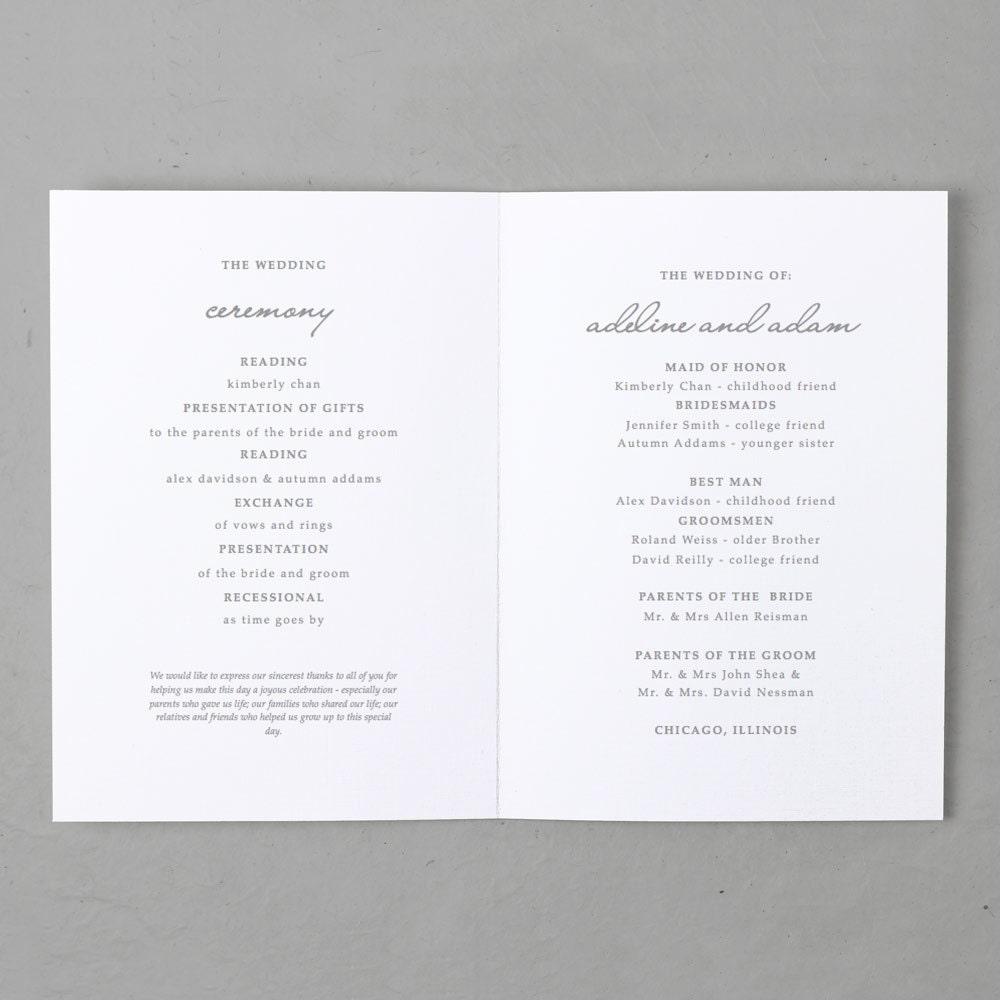 Printable Wedding Program Template Instant DOWNLOAD Ocean - 5x7 wedding program template