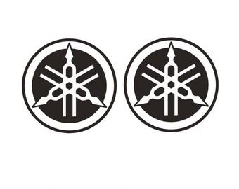 2 Kit YAMAHA 1 Mm 100xmm TUNING FORK Logo 100 Decals Stickers Aufkleber Pegatinas V Rossi MotoGP SBK