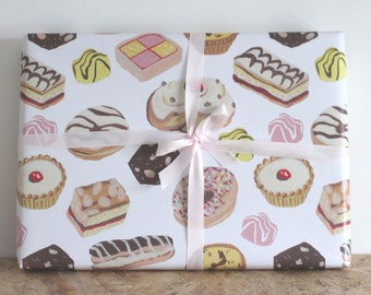 Cakes wrapping paper, traditional cake gift wrap, cake paper, cake gift, cake lover
