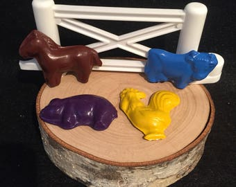 Mini Farm Animal Crayons! Party Favors. Stampede
