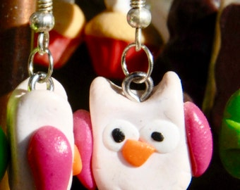 American earring owls pink