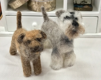 Dog needle felt kit - challenging kits for those with some felt experience looking to extend their learning