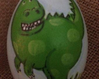 """3.25"""" Dinosaur egg, Easter egg, wooden egg, personalized egg"""