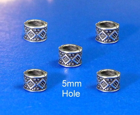 4x5mm Hole Dreadlock Beadsbeard Ring Hair Beadsviking