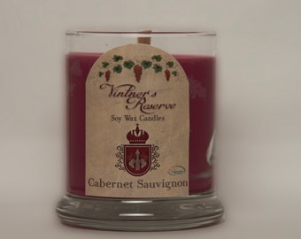 Cabernet Sauvignon Wine Scented Soy Candle