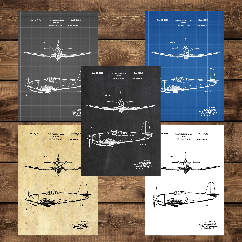 boeing gift art blueprint airplane patent poster decor aircraft aviation product pilot
