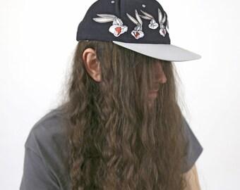Vintage 1990s Looney Tunes BUGS BUNNY Snapback Ballcap Hat