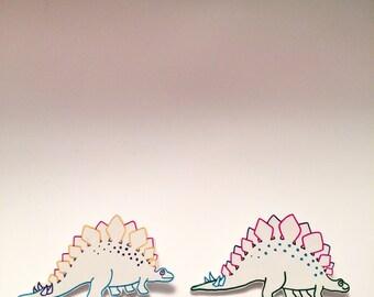 Steggy the Stegosaurus Brooch Pin