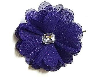 Flower hair pin, Floral hair clips, Girl hair accessories, Fabric flower bobby pin, Flower bobby pin, Girl flower hair pin, Organza hair pin