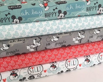 Mickey Mouse Fabric Collection - Fat Quarter Bundle